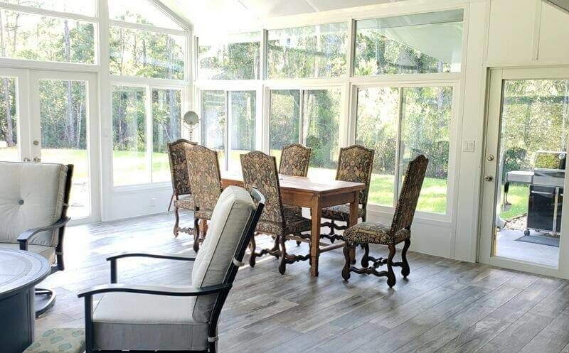 Inside Sunroom Furnished Defuniak Springs FL